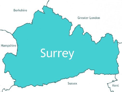 Surrey Map small